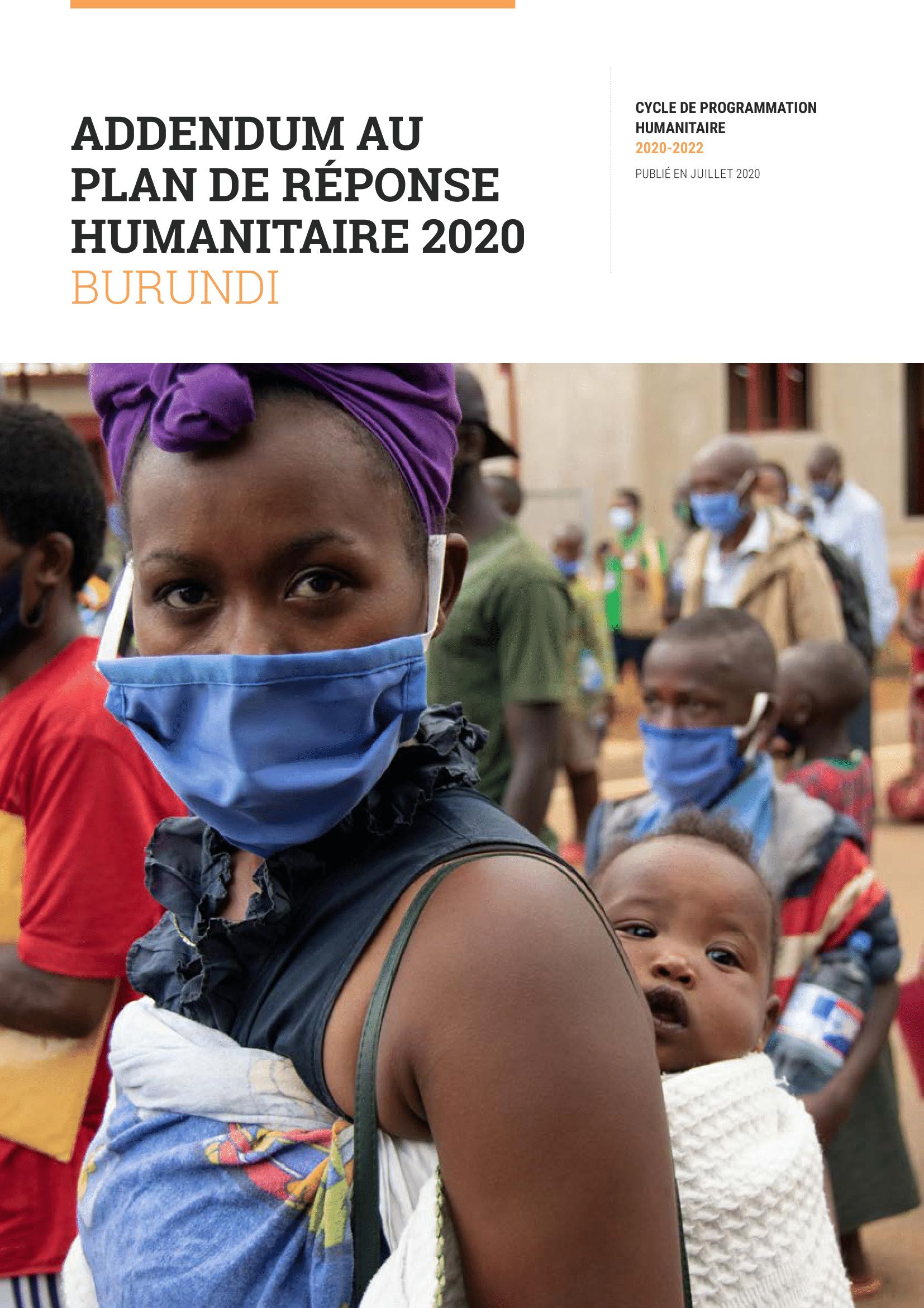 Addendum au Plan de réponse humanitaire 2020