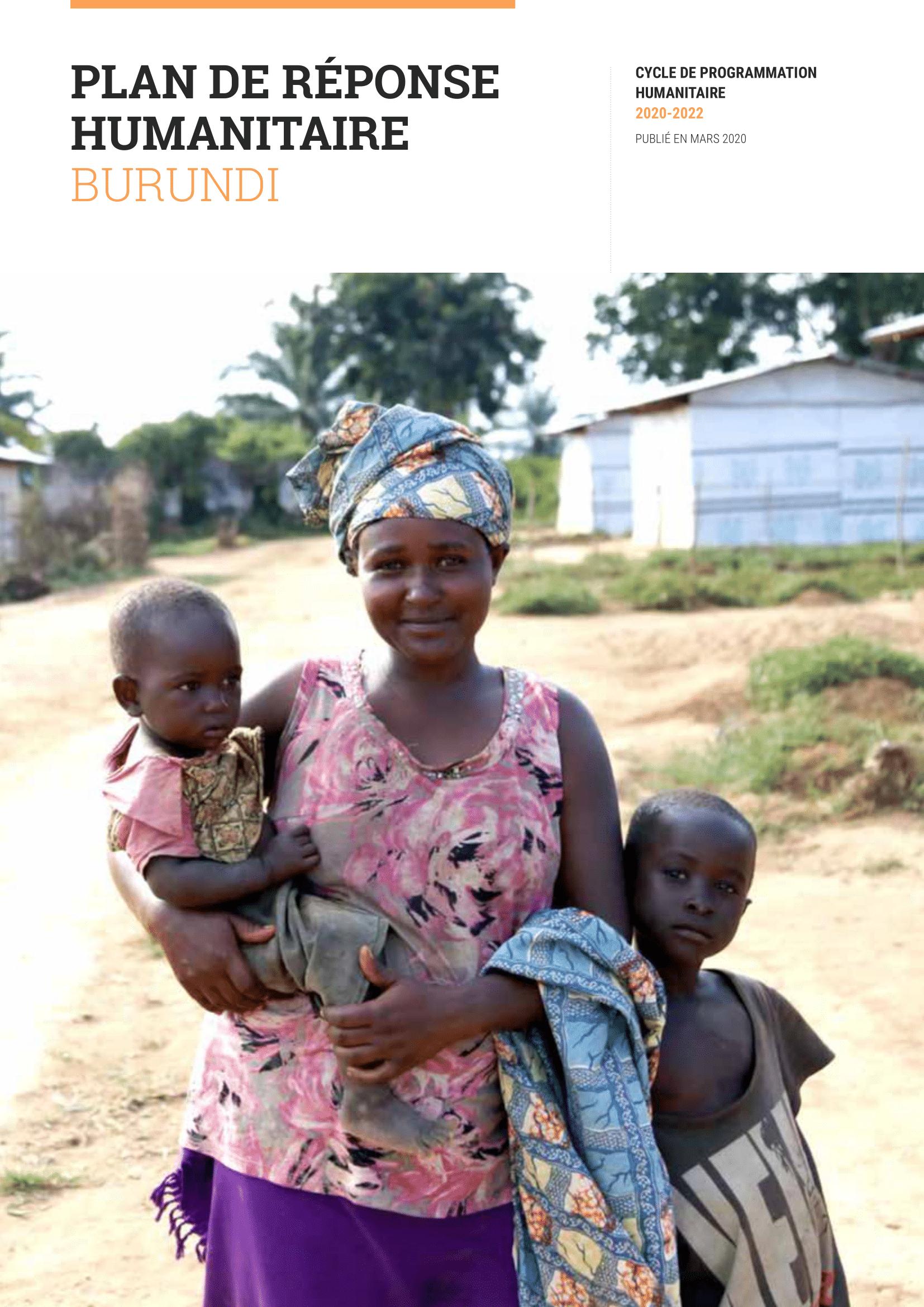 Plan de réponse humanitaire 2020 (mars 2020)