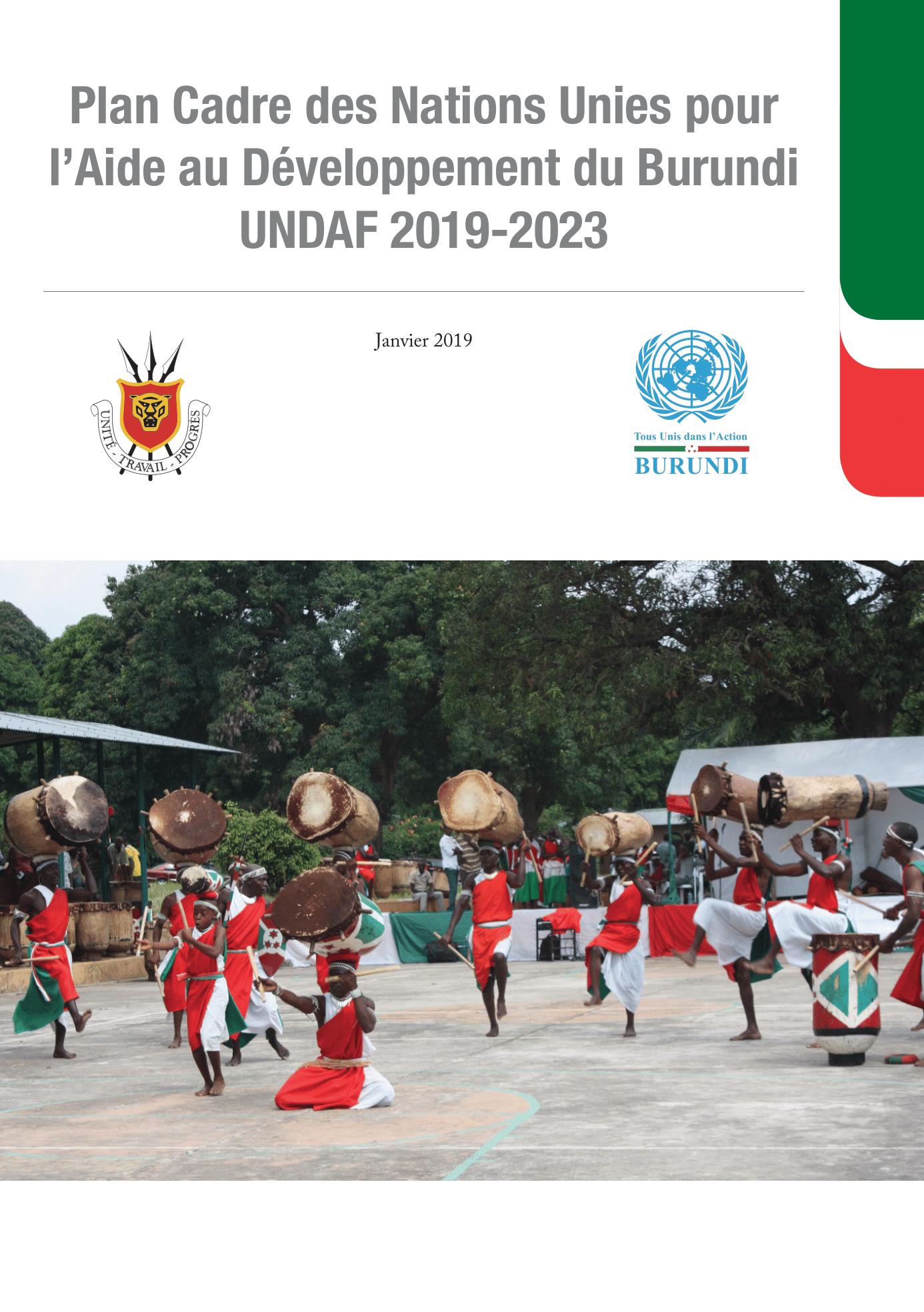 Plan Cadre des Nations Unies pour l'aide au développement du Burundi (UNDAF) 2019-2023