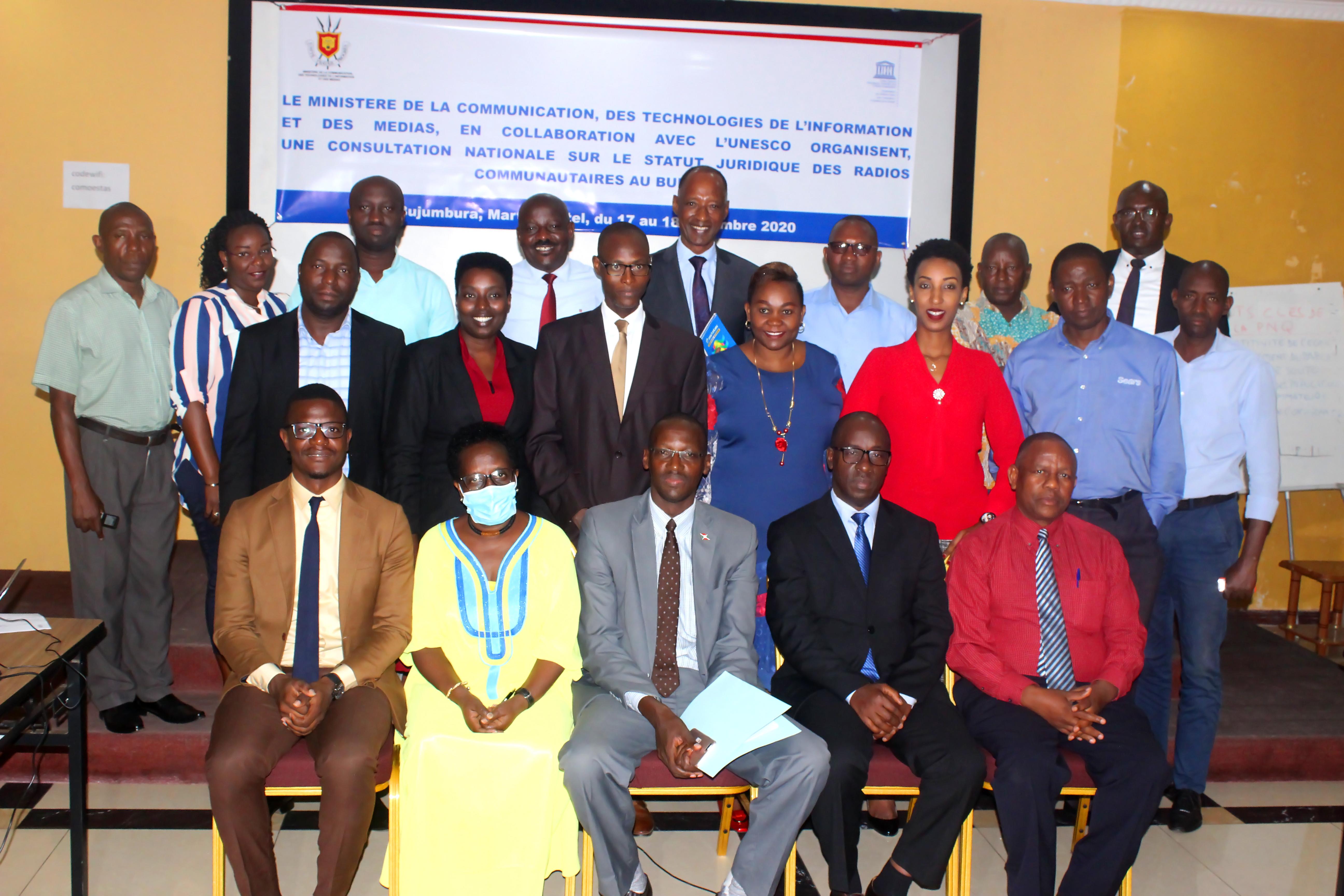 Vue des participants a la consultation nationale sur le statut legal des radios communaitaires au Burundi
