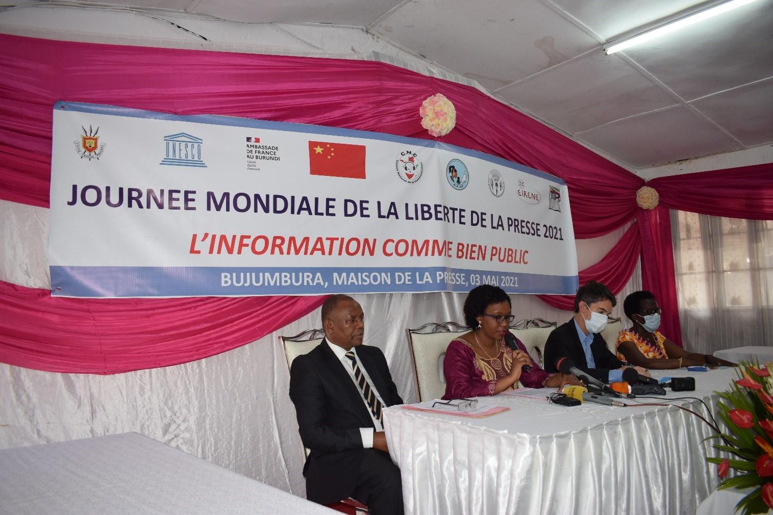 La Journée Mondiale de la Liberté de la Presse a été célébrée au Burundi