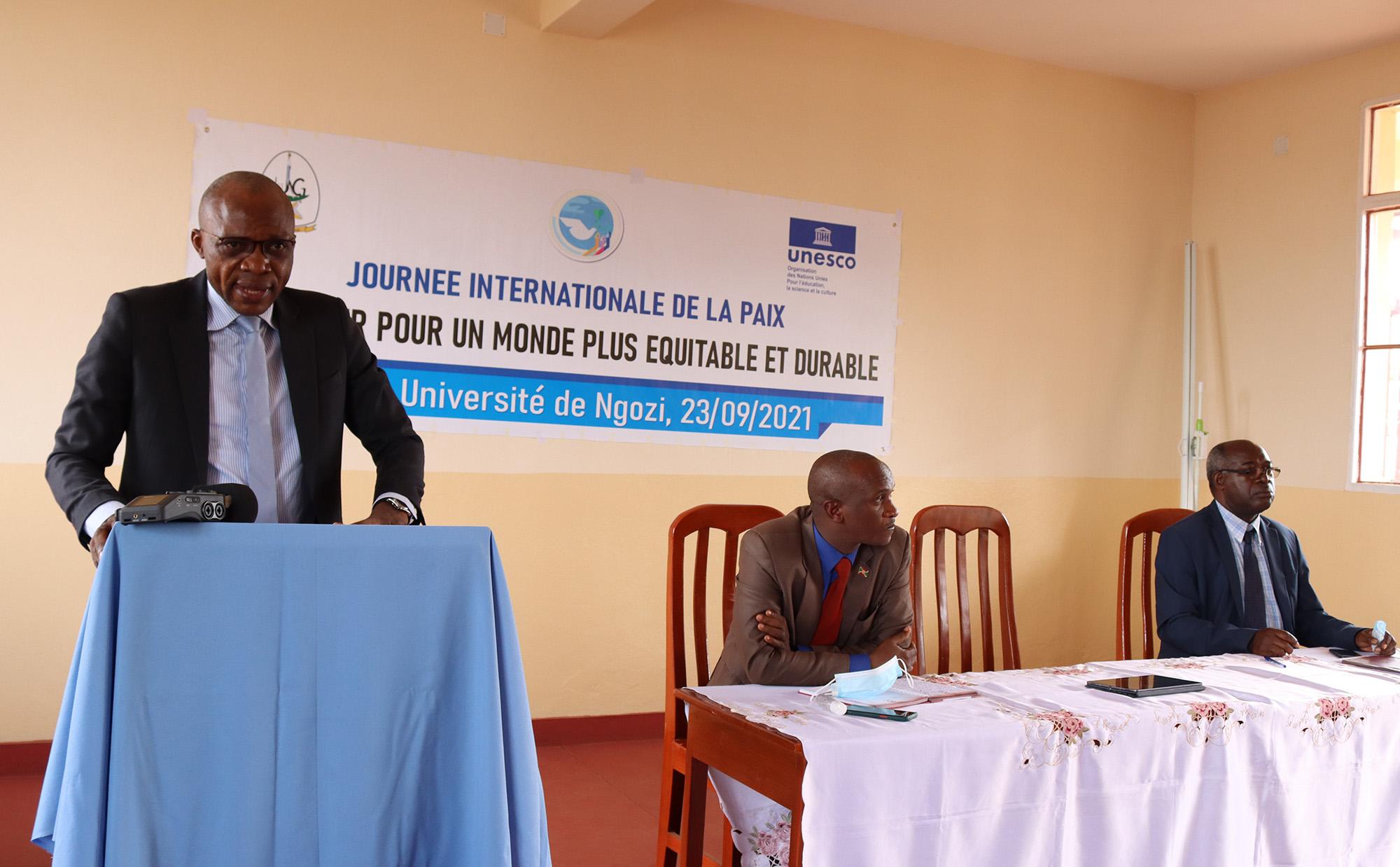 Les Nations Unies et l'Université de Ngozi célèbrent la Journée Internationale de la Paix