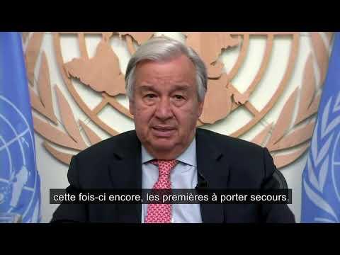 Journée mondiale de l'aide Humanitaire2020 : Message du Secrétaire général de l'ONU